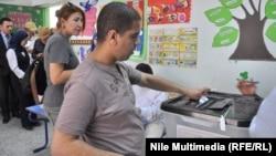 في مركز إقتراع بالقاهرة