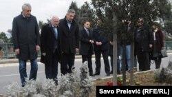 Obilježavanje godišnjice smrti Srđana aleksića u Podgorici