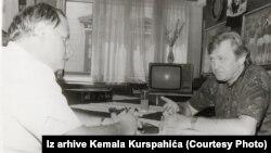 Kemal Kurspahoc u razgovor usa Ivicom Osimom o trendovima u svjetskom fudbalu nakon Svjetskog prvenstva u Italiji 1990