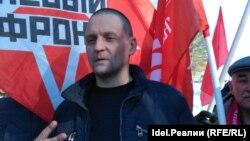 Сергей Удальцов на митинге в Уфе