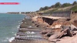 """Масштабные стройки в Крыму """"съедают"""" песчаные пляжи"""