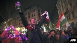 Прихильники опозиції ФІДЕС святкують перемогу своєї партії на парламентських виборах