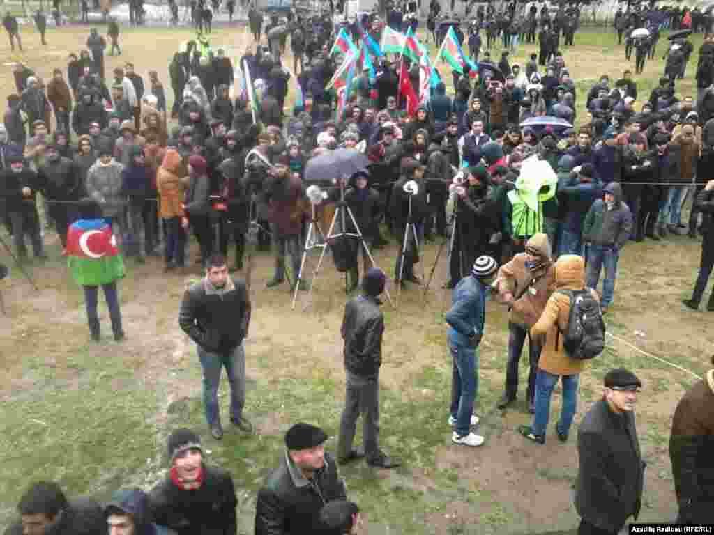 Azerbaijan. Baku. National Council's protest action in Baku