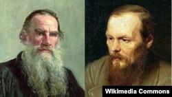 Lev Tolstoy və Fyodor Dostoyevski