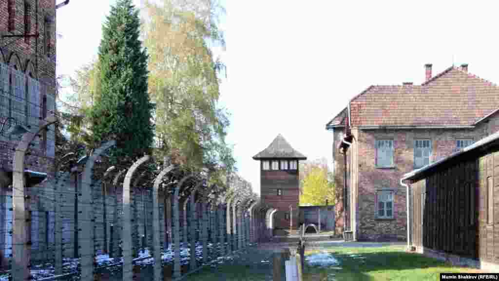 Территория бывшего концентрационного лагеря Освенцим