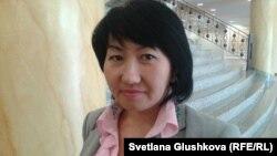 Айна Шорманбаева, Қазақстандағы адам саудасымен күресуші «Халықаралық құқықтық бастама» қоғамдық қорының президенті. Астана, 19 қыркүйек 2013 жыл