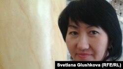 """Айна Шорманбаева, президент организации """"Международная правовая инициатива"""". Астана, 19 сентября 2013 года."""
