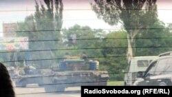 Танки в Кировском районе Донецка, 17 августа