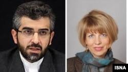 هلگا اشمید، معاون کاترین اشتون و علی باقری، معاون دبیر شورای عالی امنیت ملی ایران.