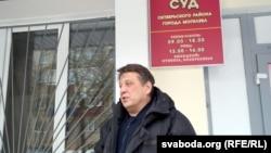 Старшыня АГП Мікалай Казлоў на судзе блогераў Пятрухіна і Кабанава. Магілёў, люты 2021 г.