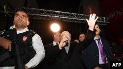 Беджи Каид Эс-Себси, основатель светской партии Nidaa Tounes, выступает перед сторонниками после второго раунда президентских выборов. Тунис, 21 декабря 2014 года.