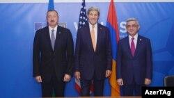 İlham Əliyev, John Kerry və Serzh Sargsyan Uelsdə - 5 sentyabr 2014