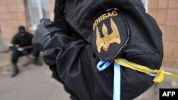 Бійці батальйону «Донбас» на своїй базі на Донеччині