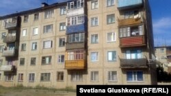 Гүлжаз Әбжамалова пәтер басып алған үй. Сәтбаев қаласы, 10 шілде 2014 жыл.