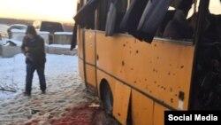 Фото с места трагедии вблизи Волновахи