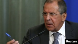 The pen may be mightier than the sword for Russian Foreign Minister-cum-poet Sergei Lavrov (file photo)