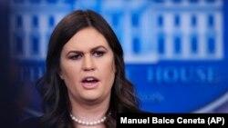 Пресс-секретарь Белого дома Сара Сандерс.