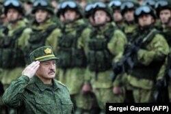 Аляксандар Лукашэнка ў час вучэньняў «Захад-2017»