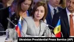 "Președintele Republicii Moldova, Maia Sandu, la forumul ""Platforma Crimeea"", de la Kiev, 23 august 2021"