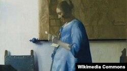 Johannes Vermeerin «Mavi donlu qadın»ı