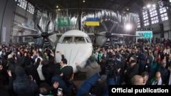Презентация транспортного самолета Ан-132D в Киеве, декабрь 2016 года