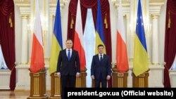 Președintele Ucrainei, Volodimir Zelenski și cel al Poloniei, Andrzej Duda, 12 octombrie 2020