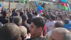 Azerbaýjanyň oppozisiýa protestçileri polisiýa bilen çaknyşdy
