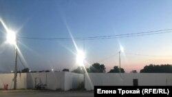Место возле заправки, где произошёл конфликт и был убит Векил Абдуллаев