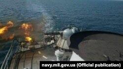 Украинские ВМС отрабатывают мероприятия по боевой подготовке в море