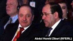 المالكي وبارزاني في أربيل