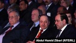 بارزني يتوسط طالباني والمالكي في مؤتمر حزبه باربيل