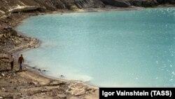 Вид на вулкан на острове Парамушир