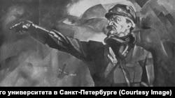 Лев Троцкий, иллюстрация Юрия Анненкова
