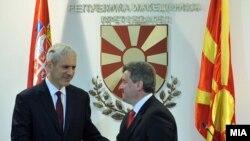 Boris Tadić i Gjorge Ivanov, Skoplje, decembar 2011.
