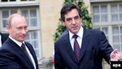 Путин Франция премьеры Фийон белән