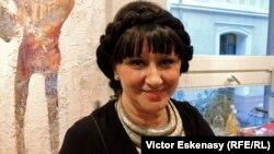 Lili Ochsenfeld la o seară culturală românească organizată de ea la Heidelberg