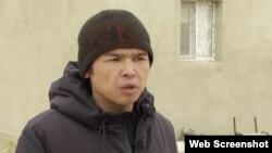 Жаңаөзендік белсенді Ержан Елшібаев. Маңғыстау облысы, 2018 жылы түсірілген сурет.