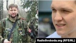 Російський депутат Денис Ахромкін і «доброволець» з Росії, колишній боєць полку «Азов» Артем Широбоков
