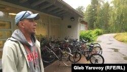 Борис Яковлев в лагере для беженцев в Лиексе
