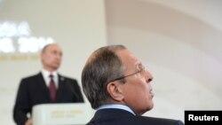 Minister Sergej Lavrov na konferenciji za novinare Vladimira Putina
