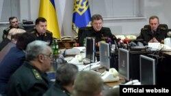 Президент Петро Порошенко на засіданні Генерального штабу Збройних сил України, 15 лютого 2015 року