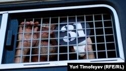 """Задержанный участник акции """"Стратегии-31"""" в защиту свободы собраний 31 июля 2012 года"""