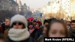 تظاهرات روز شنبه در پراگ در همبستگی با رژه زنان در واشینگتن