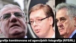 Vojislav Šešelj, Aleksandar Vučić i Tomislav Nikolić