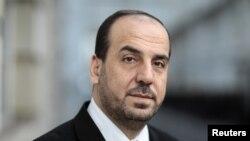 Сирия оппозициясынын башкы өкүлү Наср Харири.