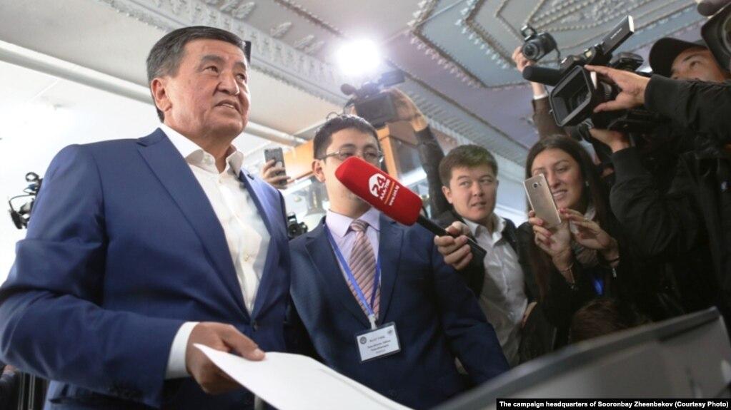 Кандидат в президенты Кыргызстана Сооронбай Жээнбеков.