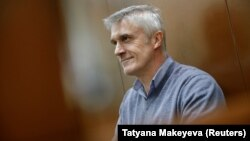 Michael Calvey attends a court hearing in Moscow on February 15.