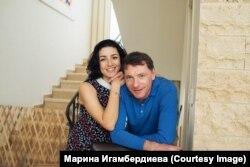 Аркадий Майофис с женой