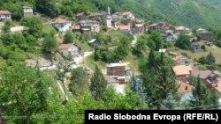 Селото Јанче во општина Маврово-Ростуше.