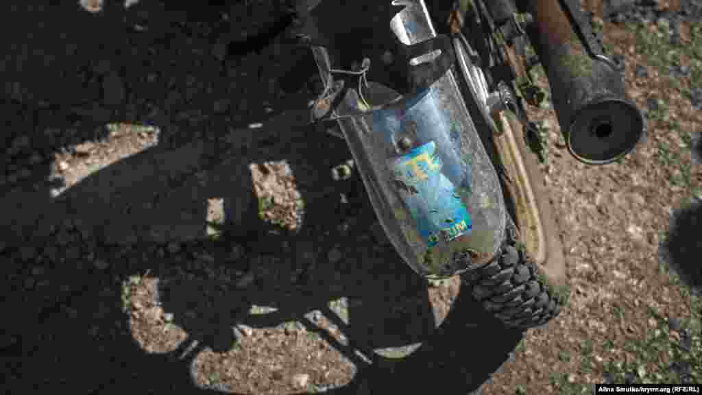 Крымскотатарская символика на крыле мотоцикла